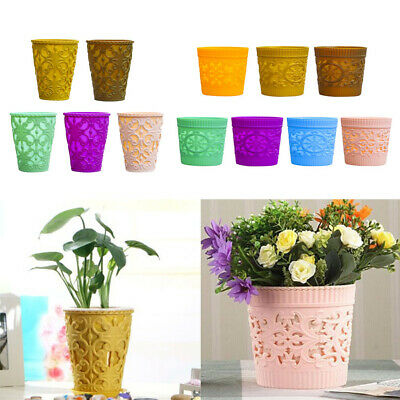 Plant Pots Strong Plastic Flower Pot/Container Planter with Drainage