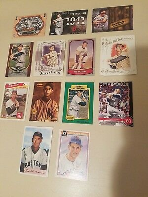 Lot 15 Ted Williams Boston Red Sox Inserts HOF Oversized Topps Bowman Donruss +