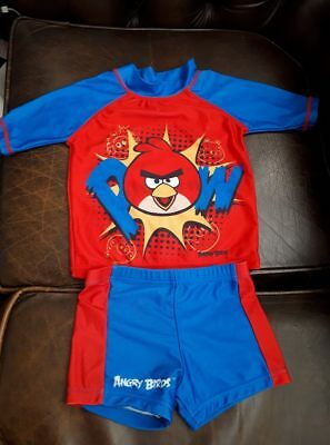 Angry Birds_2 Piece Swimsuit_Wear_Trunks_Age 1.5 - 2 Yrs_18 - 24 M_Protective