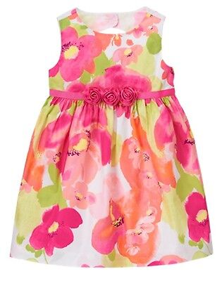NWT Gymboree FAMILY BRUNCH Girls Size 3T 4T Yellow Lined Lace Tulle Dress Easter