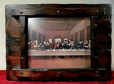 The Last Supper - Wood Frame Hanging Display - Da Vinci / Jesus