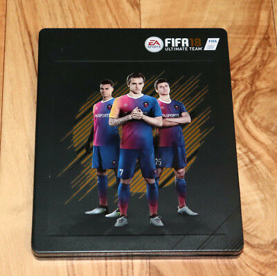 FIFA 18 Ultimate Team EA Sports Xbox One PS4 Steelbook with Sleeve & 3D Card