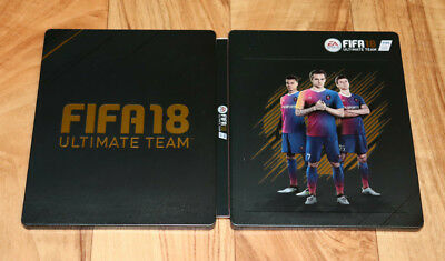 FIFA 18 Ultimate Team EA Sports Xbox One PS4 Steelbook with Sleeve Motion Card .