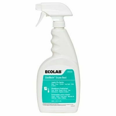 Ecolab Stainblaster Enzyme Boost Laundry Prespotter 22 Oz Case Of 4