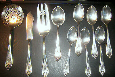 "Vintage 1847 Rogers Bros. ""Old Colony"" XS Triple plate ==>10 Pieces"