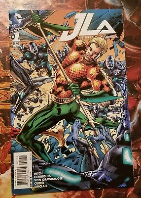 JLA Justice League of America (2015) #1 Aquaman Cover NM DC Comics  J&R