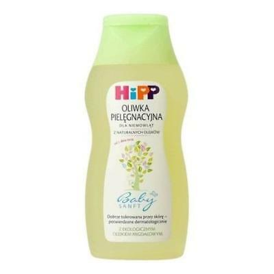 HIPP Baby Care Oil Oliwka Sensitive Skin Natural Organic Almond Massage 200 ml