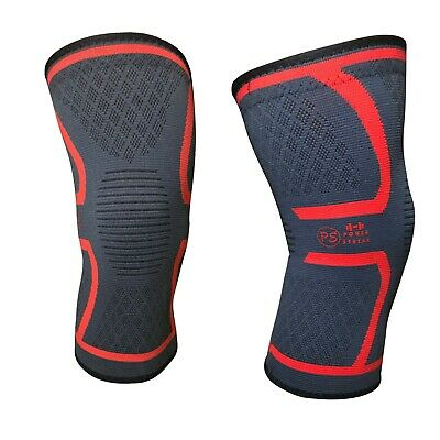 2pcs SMALL Knee Sleeve Compression Brace Support Sport Joint Arthritis relief