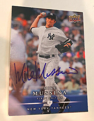 Mike Mussina 2009 Upper Deck First Edition Signed - yankees orioles hof hall 244