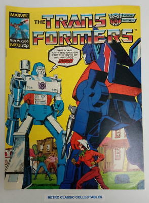 Marvel UK - The Transformers - Comic - No. 73 - 9th Aug. 1986 (*2)