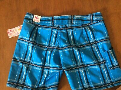 b39e0296a3 MENS BURNSIDE BLACK/BLUE Tropical Board/swim Trunk Shorts Pockets ...