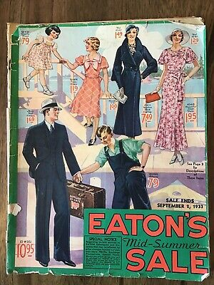 Lot Of 3- 1932 To  1933 Eaton's Catalogues