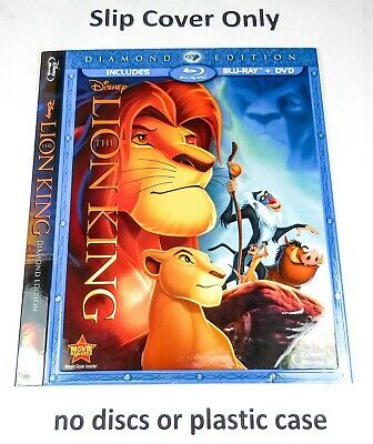 The Lion King - Embossed Slip Cover Only (no blu ray / dvd) Diamond Edition