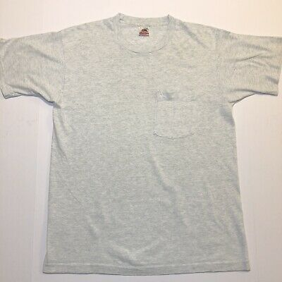 dd5a05ab VINTAGE 70S DEADSTOCK Fruit Of The Loom White Solid Blank 100 ...