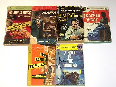 Lot of 5 Vintage PB Pulp Pulps - Crime, Hardboiled Detective, Mystery