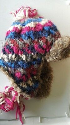 1d056ebcf0cea American Eagle Outfitters Unisex Knitted Trapper Hat Alpaca Wool Fits One  Size