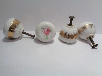 4 More Available  Vintage Porcelain Knobs Cabinets Doors Drawers #0