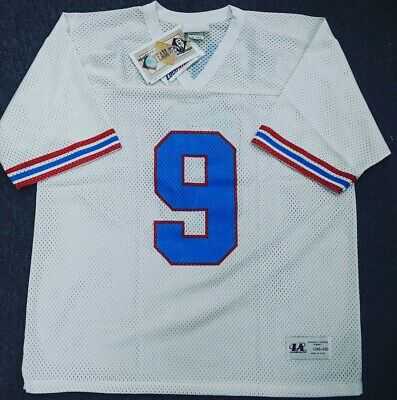 506af1a48 VINTAGE HOUSTON OILERS Jersey Rare  57 Russell Athletics Size 48 NFL ...