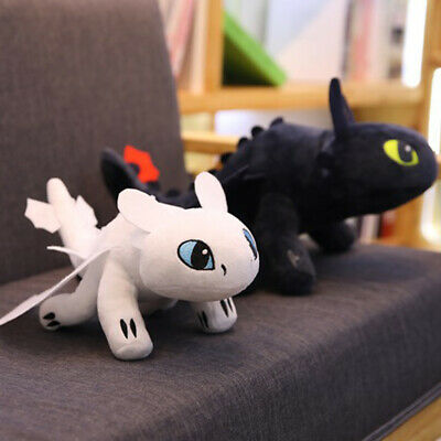 UK Toothless Night Fury Soft Toy Teddy How to Train Your Dragon Plush Doll 35cm
