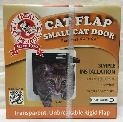 Cat Flap Small Cat door ~ Ideal Pet Products ~ With 4-Way Lock ~ White ~ NIP!!