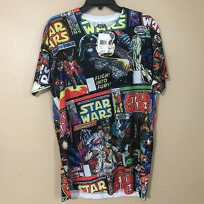 5ed55a88 VTG STAR WARS Darth Vader All Over Print 90's Movie Men's T-shirt SZ ...