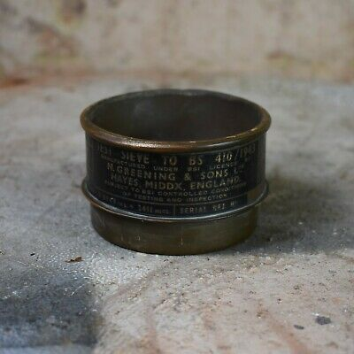 Vintage 1943 Endecotts Small Brass Test Sieves Laboratory Chemist WW2 Era
