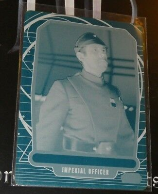 2013 Star Wars GALACTIC FILES 2 TRADIN CARD Cyan Printing Plate 501 IMPERIAL 1/1