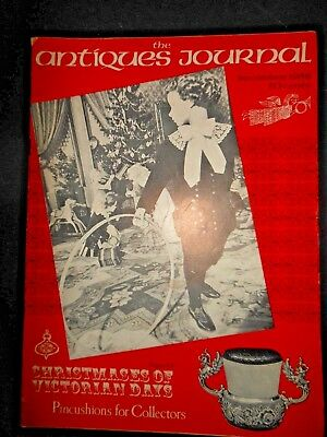 Antiques Journal Dec 1968 Victorian Christmas Pincushions Alfred Hitchcock Chair