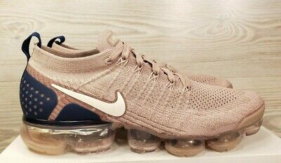 Nike Air Vapormax Flyknit 2 Taupe Navy Running Training 942842 201 Pick Size