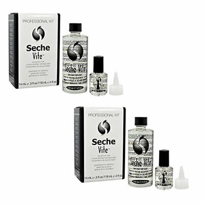 Seche Vite Dry Fast Top Coat Professional Refill Kit 4 oz and 0.5 oz (2 Packs)