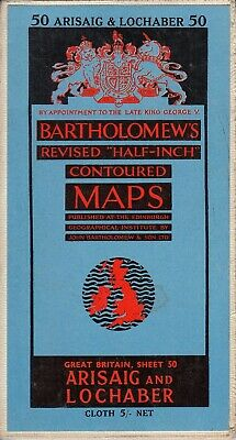 Bartholomews Revised Half-Inch Contoured Maps -... - Good - Map
