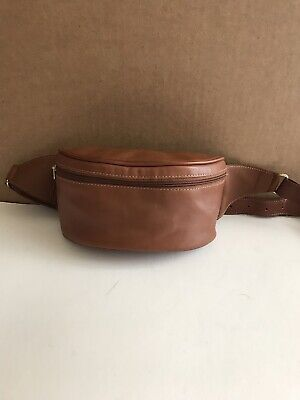Vintage COACH Waist Fanny Pack/Hip Pouch Brown Leather Brown Tan Bag Purse Rare