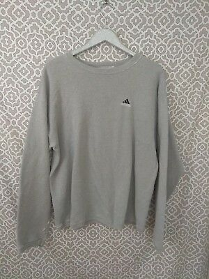 Distressed Adidas Pullover Gray Sweatshirt Sz L/XL