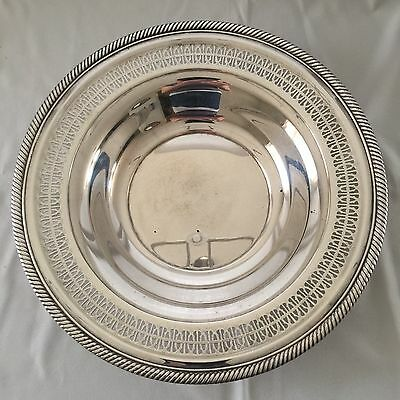 "Beautiful Silverplated Serving Plate, Unmarked. 12"" Across"