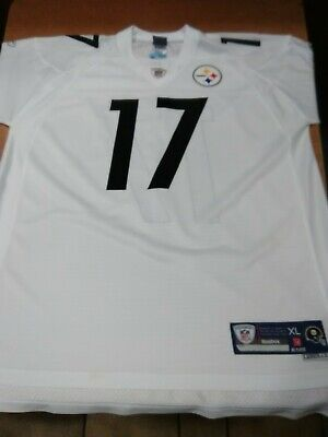 3da490528 Reebok NFL Pittsburgh Steelers Mike Wallace White Jersey Sz XL 2 STITCHED