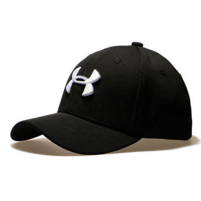 free shipping 91dc3 e2389 New Under Armour Baseball Cap Men Fitted Cap Women Embroidery Dad Hat Black  Bran