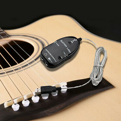 Guitar to USB Interface Link Cable Adapter MAC/PC Recording CD Studio Laptop 1V