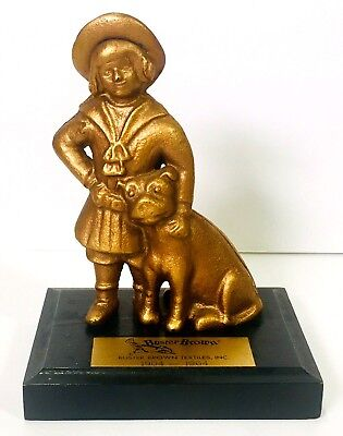 Buster Brown Shoes Textiles Anniversary Bank on Base with Pit Bull Dog Tige