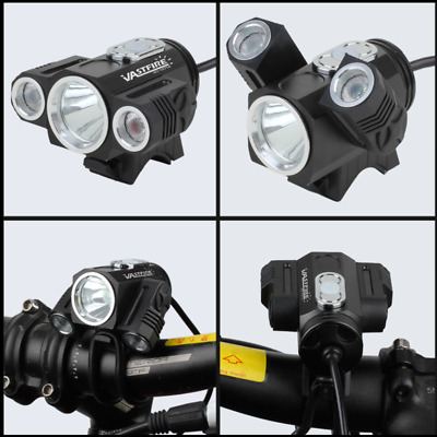 Powerful Bicycle 10000LM 3x XM-L T6 LED Headlamp Front Light Torch Rechargable
