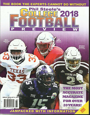 PHIL STEELE'S 2018 College Football Preview - $19 50 | PicClick