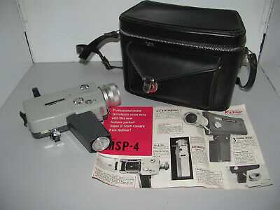 Kalimar MSP-4 Super 8 Zoom Camera Made In Japan With Case Working.