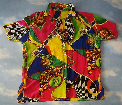 SHIRT woman vintage 90's VERSACE JEANS SIGNATURE TG.S ampia  made in Italy RARE
