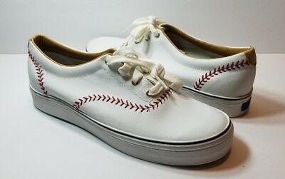 7a9d08a822f88 Keds Champion Pennant Leather Baseball White Sneakers Women s - Size 10M