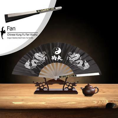 Chinese Fan Martial Arts Stainless Steel Bamboo Kung Fu High Quality