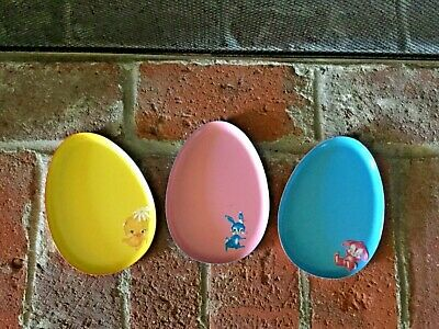 :¦: :¦: Flocked Resin Duck Bunny Chick Set of 3 .Easter