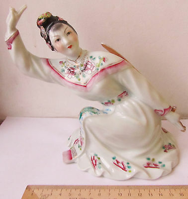 Dance with sword Chinese girl Porcelain figurine figure Old China Jingdezhen