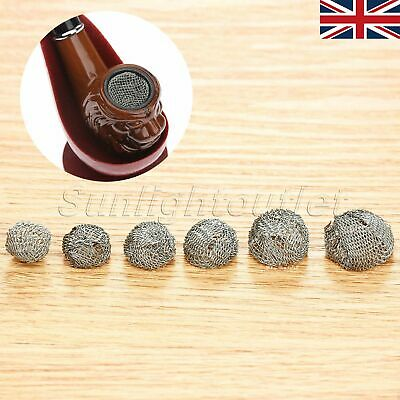 10pcs 13/14/15/16/18/20mm Tobacco Pipe Metal Screen Smoking Ball Filter UK STOCK