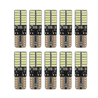 10pcs T10 4014 24SMD W5W Car LED Canbus Bulb Width Lamp Reading License Lamp