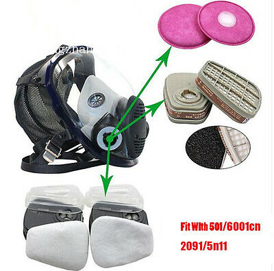 7 in 1 suit full face spray paint dustproof Mask Facepiece Respirator Gas mask