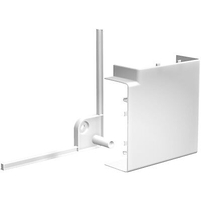 Schneider ISM10303 OptiLine 45 - goulotte pvc blanc - 140 x 55 mm - angle plat 9